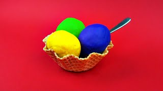 Play-Doh Ice Cream Surprise Eggs Mickey Mouse My Little Pony Shopkins Cars 2 Spongebob Toy FluffyJet