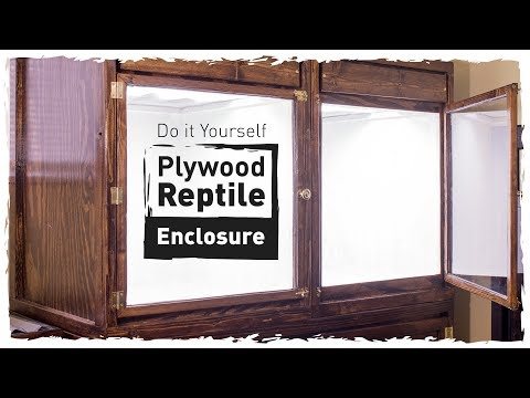 DIY Plywood Reptile Enclosure (Small Version)