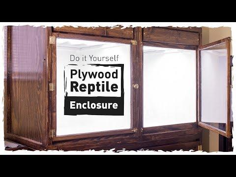 DIY Plywood Reptile Enclosure (Small Version)