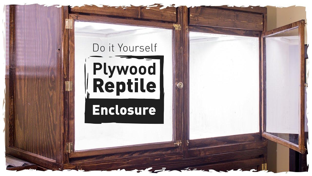 Diy Plywood Reptile Enclosure Small Version Youtube