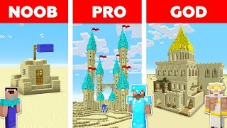 Minecraft NOOB vs PRO vs GOD: SAND CASTLE in Minecraft / Animation