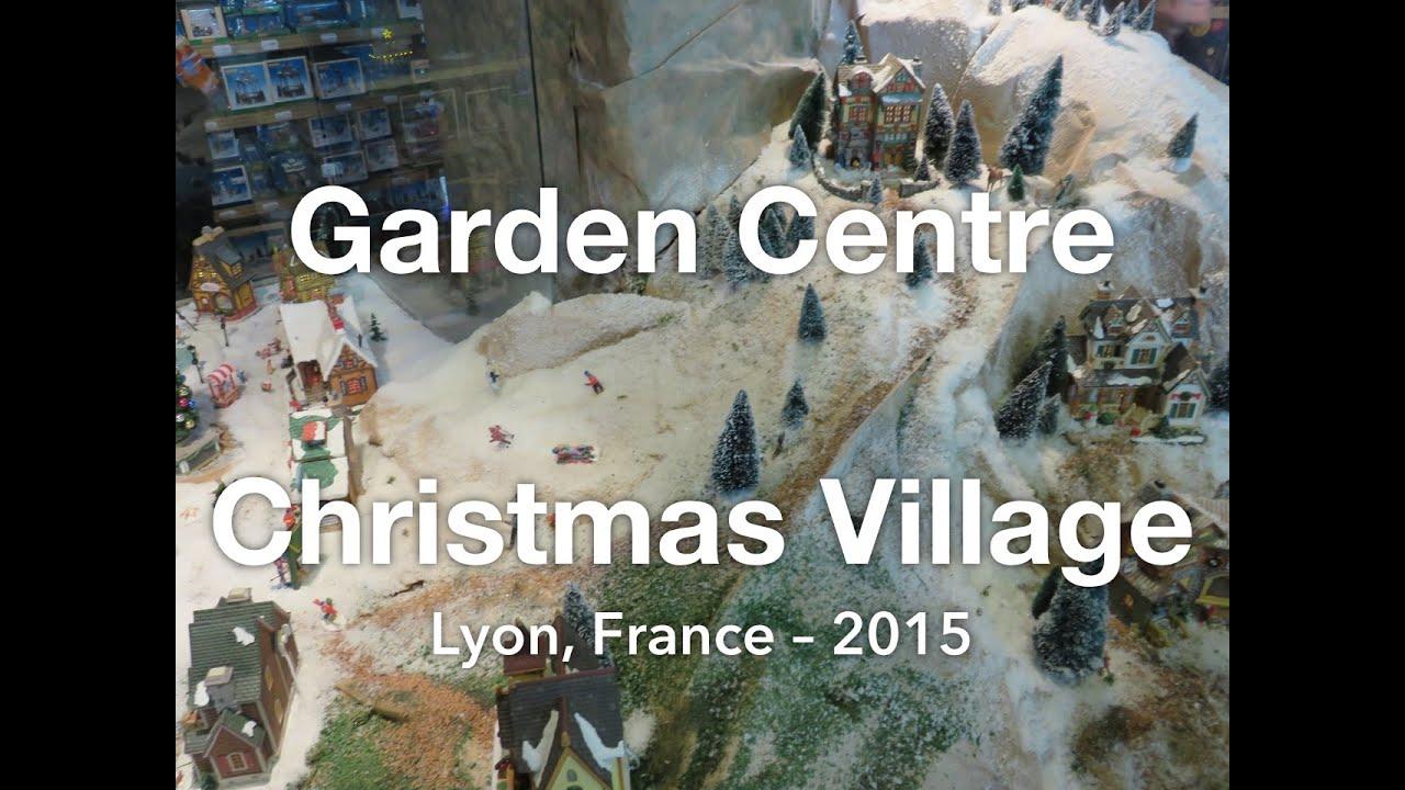 Christmas Village In Our Local Garden Center Youtube