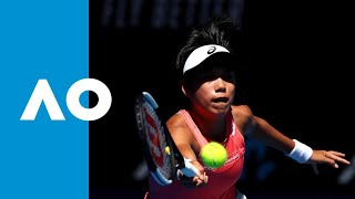 Shuai Zhang takes first set (3R) | Australian Open 2019 thumbnail