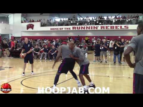 Carmelo Anthony VS Monty Williams 1 on 1. USA Basketball Rio 2016 Olympics
