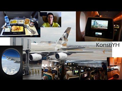 Etihad A380 Flight Review : EY12 London to Abu Dhabi by KonstiYH