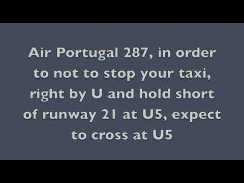 Transcription of TAP287 radio comms on departure from Lisbon (LPPT) to Maputo
