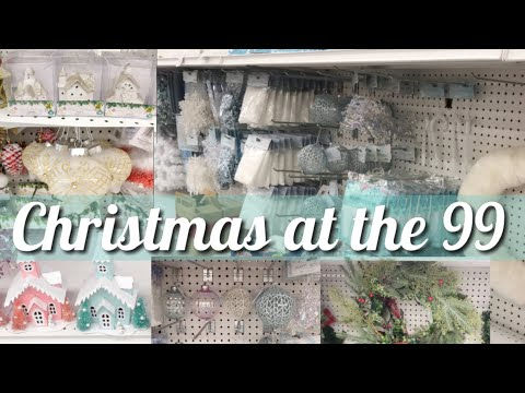 *New* Christmas Decor At 99 Cent Only Stores | Dollar Store Ornaments