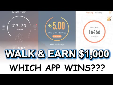 Walk And Earn $1,000 For Free With These 3 Apps