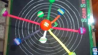 WORKING MODEL OF SOLAR SYSTEM    School science project    see details in description