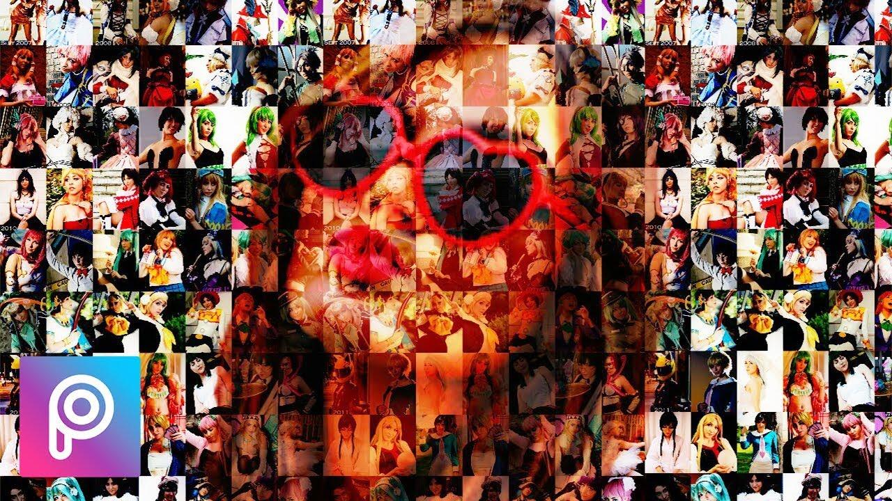 Cara edit mozaik efek (foto collage) di picsart android ...