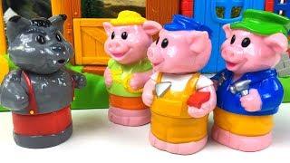 El Cuento De Los Tres Cerditos Y El Lobo - Three Little Pigs Story - Cuento Dive