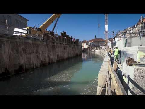 Timelapse: Vandet flyder igen i kanalen ved Gammel Strand