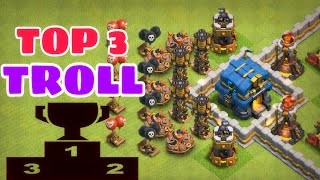 Clash of Clans - TOP 3 TH11 (TOWN HALL 11) Troll Base / Trophy Base / Legend League Base 2018