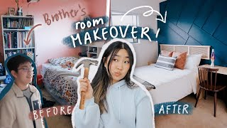 Epic Room Makeover for my Brother 🛠☁️ (small room) | JENerationDIY