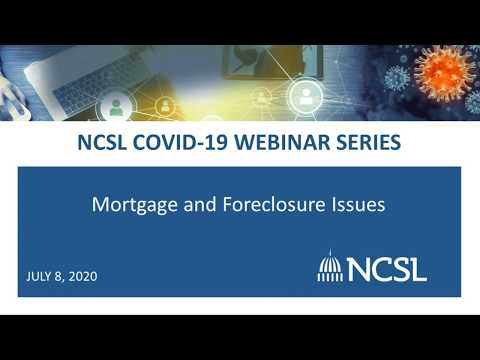 COVID-19: Mortgage And Foreclosure Issues