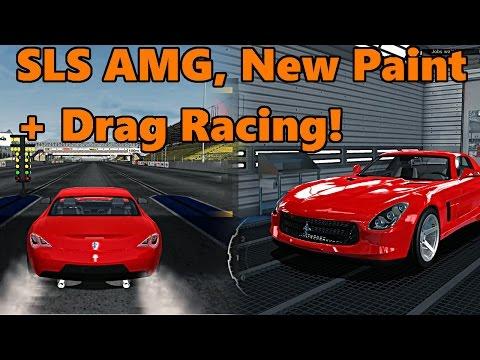 Car Mechanic Simulator 2015 | SLS AMG NEW PAINT + Handling and Drag Race! Total Modification DLC |