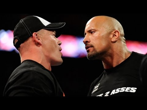 The Rock and John Cena come face-to-face one final time
