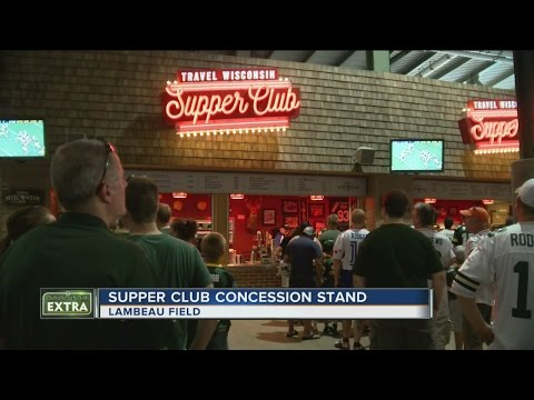 Supper Club themed concession stand opens at Lambeau Field