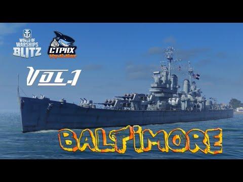 WOWS BLITZ Флот :СТРАХ Baltimore IX
