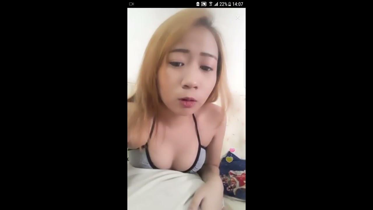 Bigo Live Ah Lian Walking Around At Home in Bikini
