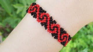 Beaded bracelet/Diy/Tutorial/Браслет из бисера/Как сделать браслет/Бисер/Рукоделие