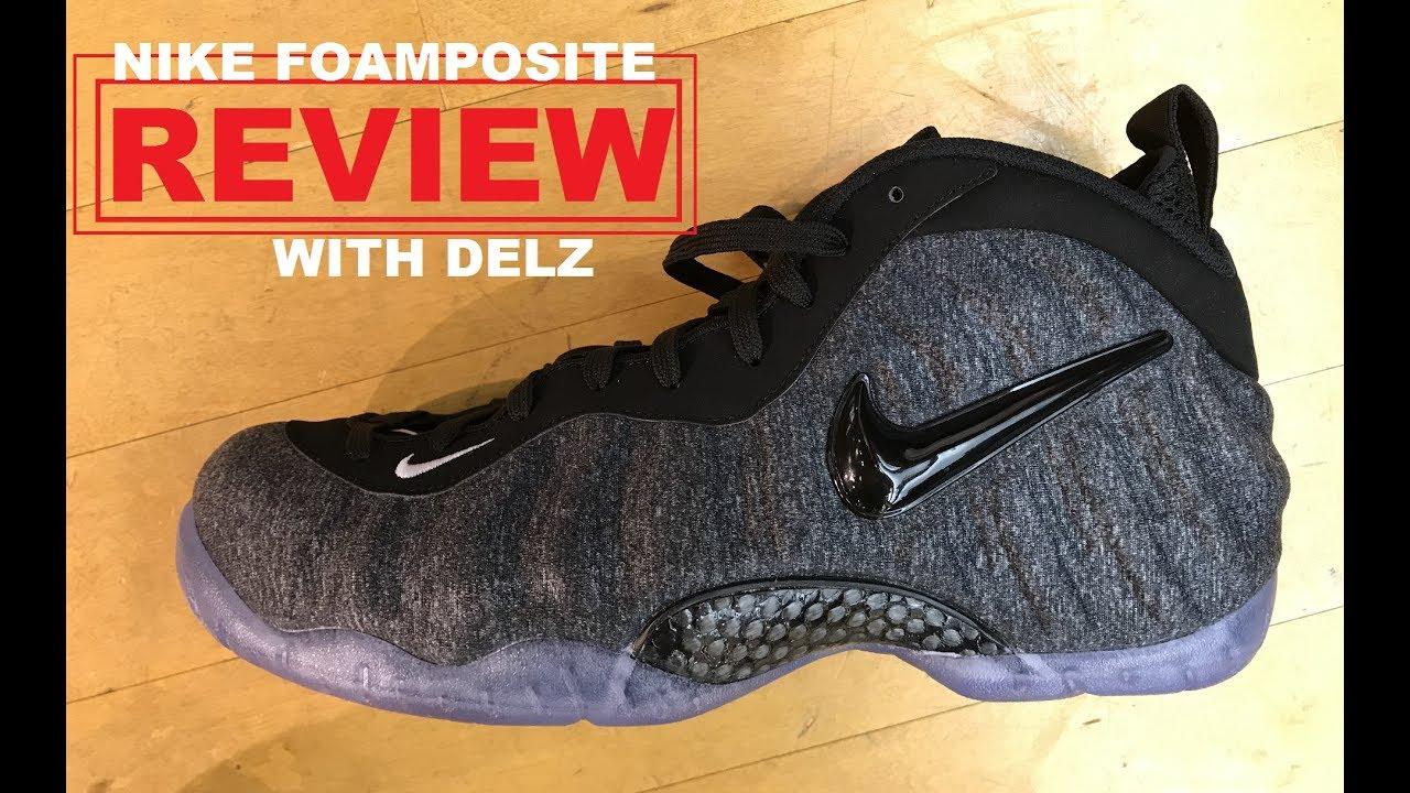 87d3695e2de2e9 Nike Foamposite Pro Tech Fleece Sneaker Detailed Review - YouTube