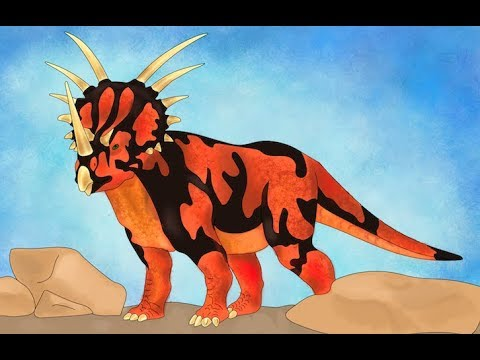 How To Draw Dinosaur Styracosaurus Coloring Pages Drawing For Kids