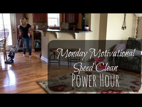 Motivational Monday Speed Clean Power Hour | Clean With Me | Mrs. Davis