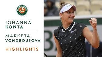 Johanna Konta vs Marketa Vondrousova - Semi-Final Highlights | Roland-Garros 2019