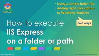 Quickly: How to execute IIS Express on a folder or path