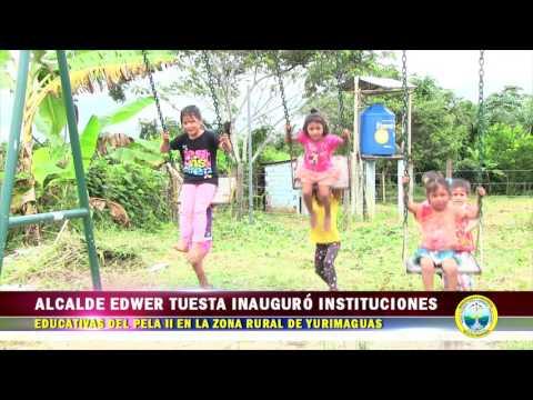 ALCALDE EDWER INAUGURÓ INSTITUCIONES EDUCATIVAS DEL PELA II EN LA ZONA RURAL