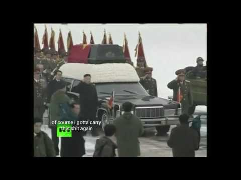 Kim Jong il's funeral with spongebob music and captions