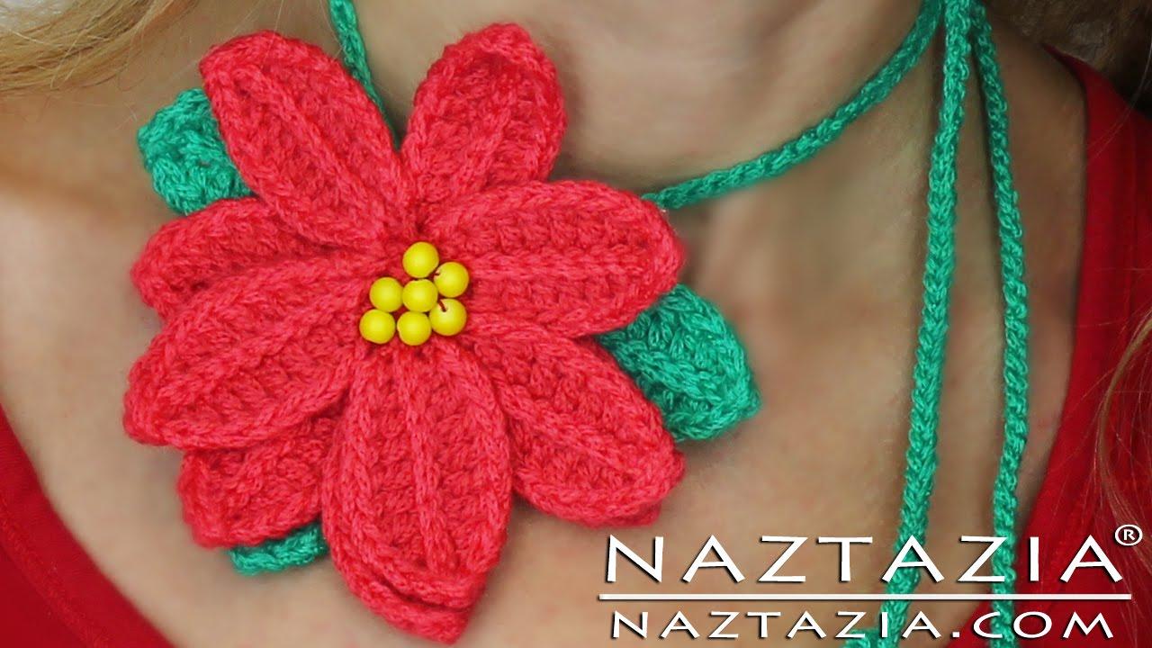 Diy Learn To Crochet Poinsettia Flower Tutorial Pointsetta