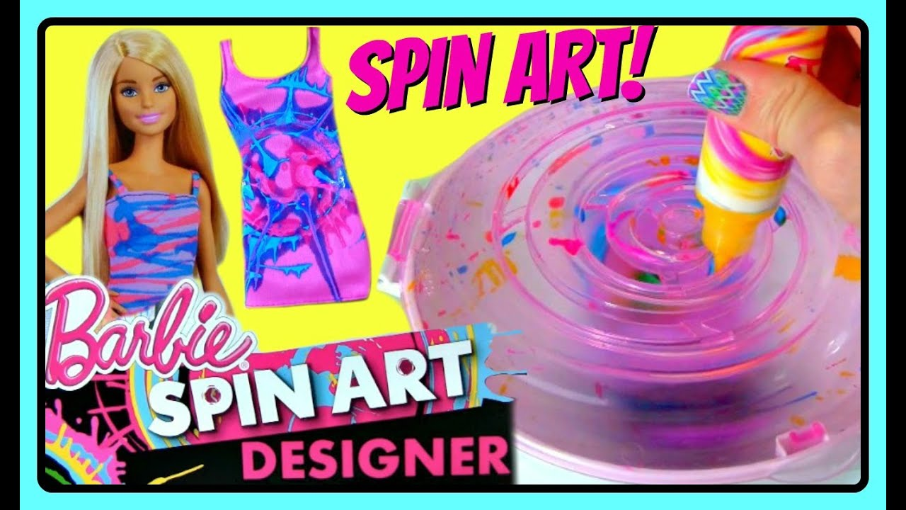 barbie spin art