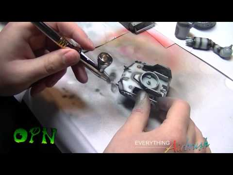 How to Airbrush a model for the complete beginner.