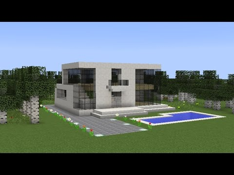 Minecraft How To Build A Futuristic House Youtube