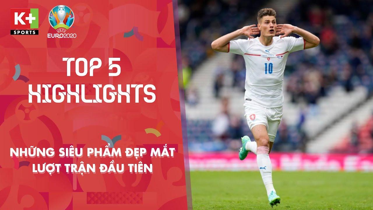 TOP 5 BÀN THẮNG ĐẸP - LƯỢT TRẬN ĐẦU TIÊN VÒNG BẢNG | EURO 2020