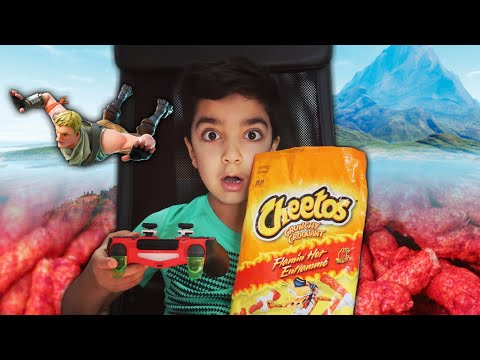 I Ate Flamin Hot Cheetos With NO WATER For Every Kill My Older Brother Scrubzah Got In Fortnite!
