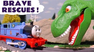 Thomas & Friends Brave Rescues with Dinosaur and Paw Patrol TT4U
