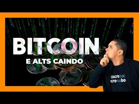 BITCOIN E ALTS CAINDO - ANÁLISE AO VIVO