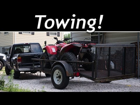 Towing with my 1998 Ford Ranger 2.5L 2WD for the first time!