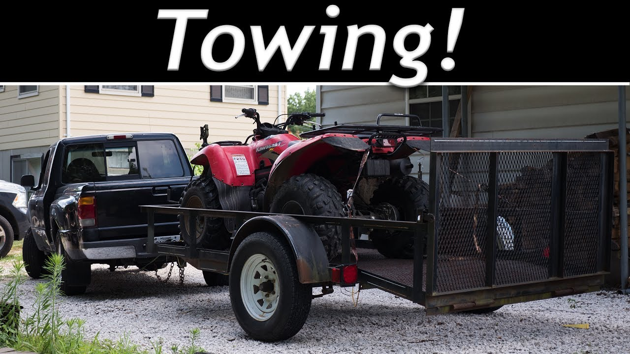 towing with my 1998 ford ranger 2 5l 2wd for the first time youtube rh youtube com 2010 Ford Ranger Towing Capacity Ford Ranger Towing Load