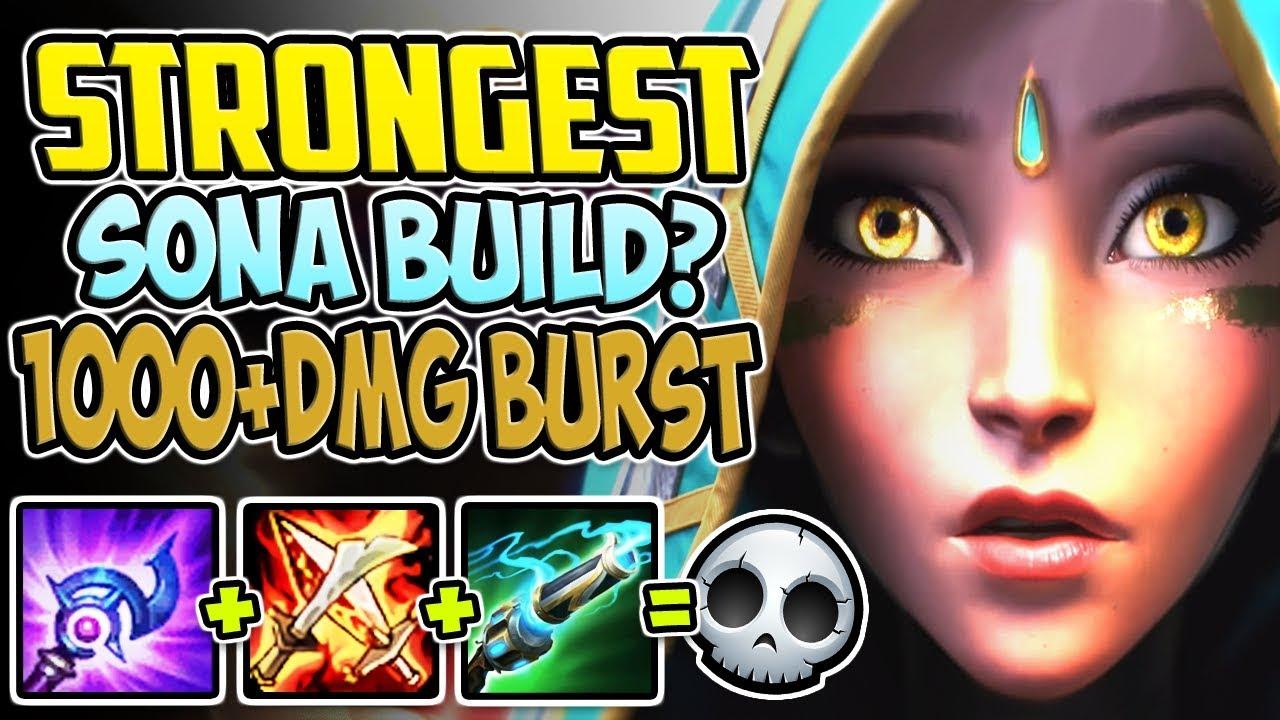 Strongest Sona Build 1000 Damage Burst Is Always Op Sona