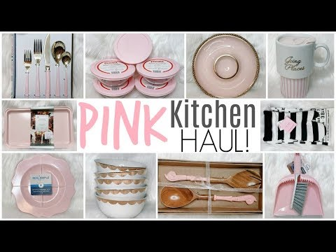 Pink & Gold Kitchenware Haul ♡ Utensils, Appliances, Dishes & Storage Containers