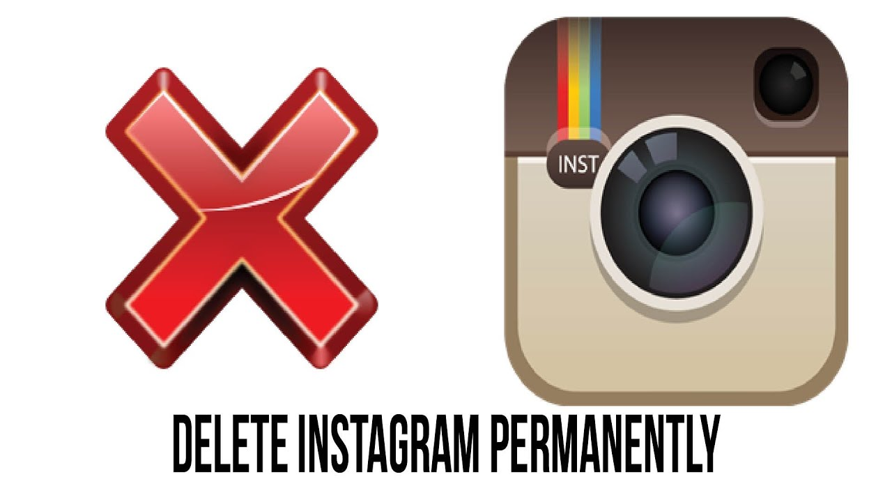 How to permanently delete your instagram account youtube ccuart Gallery