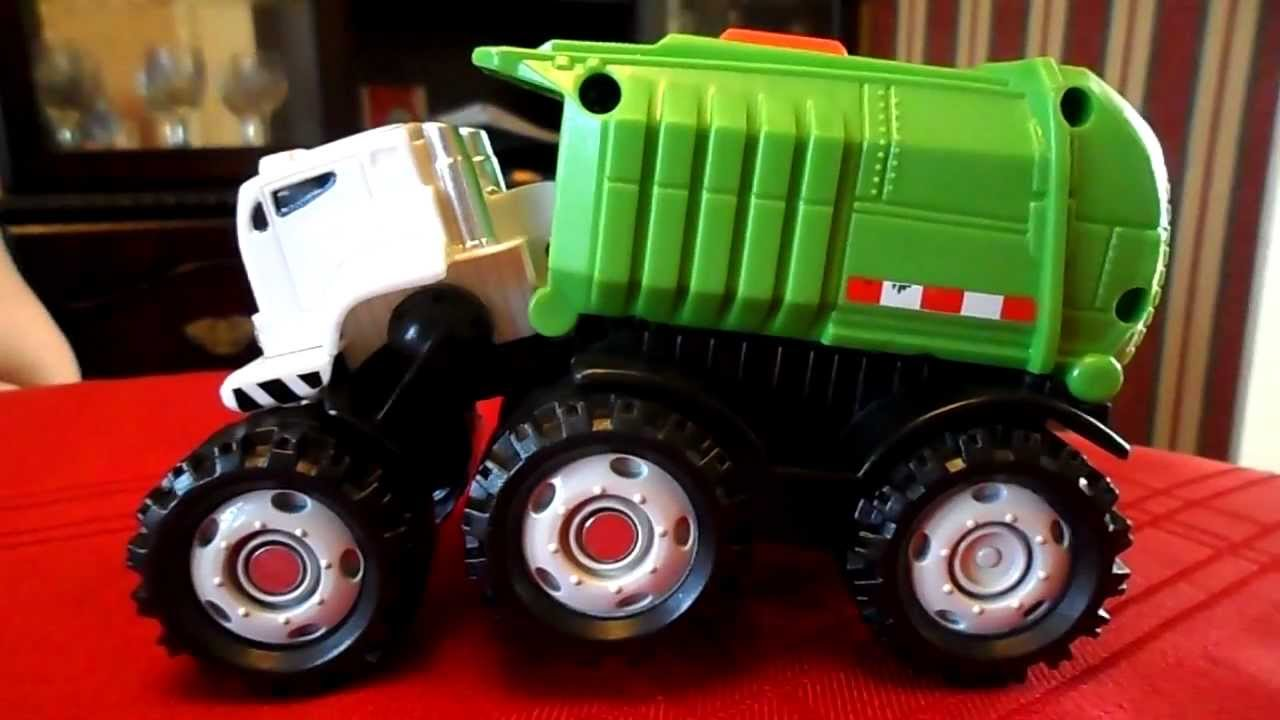 Superb MATCHBOX 2009 RECYCLING Garbage Monster TRUCK TOY