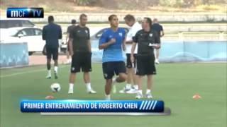 Lo más visto, el primer entrenamiento de Roberto Chen a las órdenes de Bernd Shuster