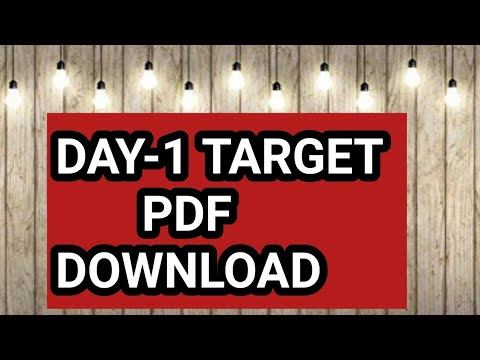 SCH-9-DAY-1-TARGET LESSON PDF DOWNLOAD