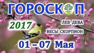 Гороскоп. Прогноз таро на неделю с 1-7 Мая 2017 (ЛЕВ - ДЕВА - ВЕСЫ - СКОРПИОН)