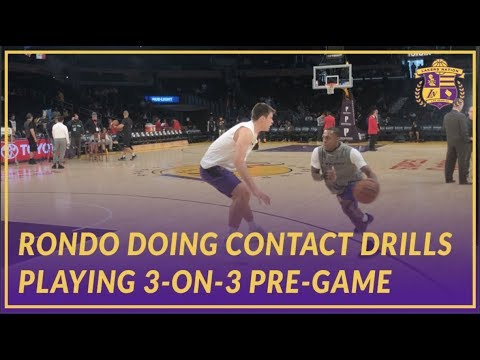 Lakers Pre-Game: Rondo, Svi, Zu, Beasley, and Wagner Play 3-on3 Before The Game